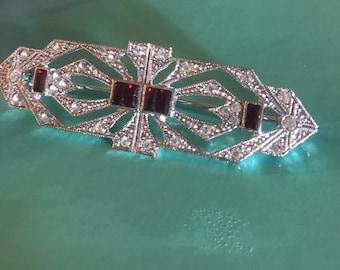Vintage Art Deco Style Bar Pin Brooch