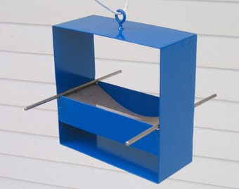 99 Modern Bird Feeder in Deep Blue