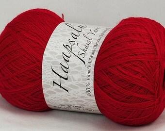 100% Wool Red Yarn Haapsalu Shawl Yarn