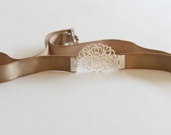 Bridal Belt - Wedding belt - Silver belt - Wedding dress belt - Grey Belt - Bridesmaids Belt - Jeweled belt - Skinny Belt - Retro Belt