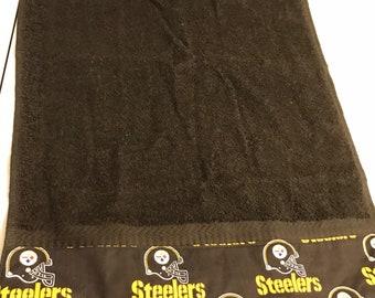 Pittsburgh Steelers Black terry hand towel