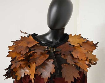 Keyleth Druid Leather Leaf Mantle