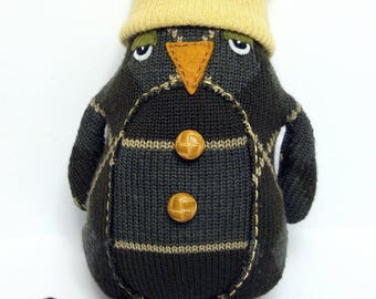 Penguin with Yellow Stocking Cap