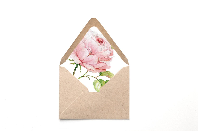 Peony envelope envelope liner flower envelope liner zoom mightylinksfo Choice Image