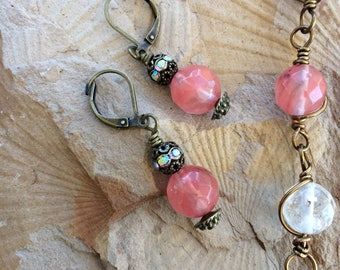Watermelon Crystal earrings