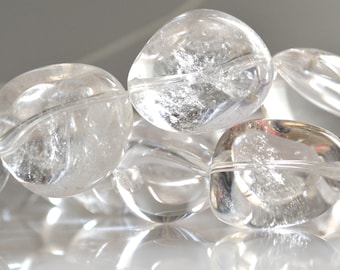"""Natural Clear Quartz Natural Nugget Shape. Size Approx. 20-28x15-18mm. Approx.16-18 Pieces Full Strand 16"""""""
