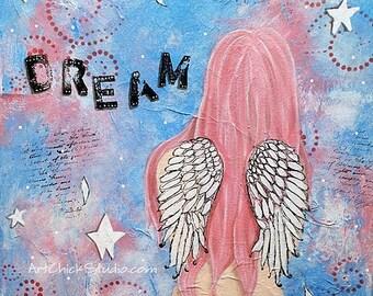 Dream Angel Mixed Media