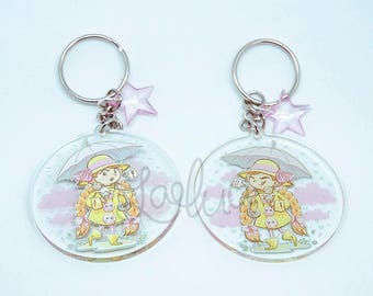 Rainy Days Sprinkles Star Cute Keychain