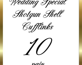 Shotgun Shell Wedding Cufflinks Winchester Brass 12 Gauge Cufflinks Groomsmen 10 Pair