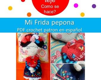 Frida Kahlo Amigurumi - Frida Pepona