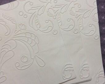 Wedding Napkin ~ Embossed Paper Napkin ~ Wedding ~ Bridal Shower ~ Engagement Party ~ Anniversary ~ Birthday ~ Elegant Swirl ~ Beverage