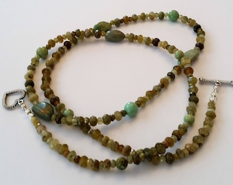 GreenTurquoise, Natural Stone Necklace