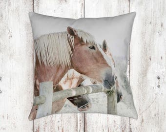 Horse Decorative Pillow - Throw Pillows - Equine Decor - Horse Decor - Gifts - Rustic - Farmhouse Decor - Home Decor