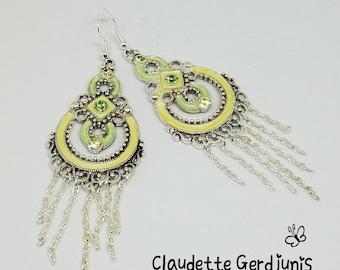 Fancy Swarovski Chandelier Earrings