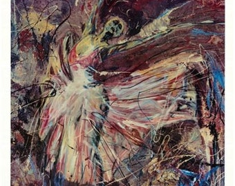 Ballerina art, Dancer  painting, Dancer Art , Limited Edition by Johno Prascak of Pittsburgh