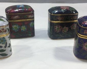 Rectangular cloisonnè box available in various colors