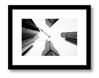 CHICAGO Architecture black and white Photograph, Sears Tower, Willis Tower, Office Decor, Home Decor