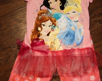 Disney, Princess, girl birthday, Cinderella, Belle, Jasmine, Pink Ruffle pants, Disney outfit, girl clothes, t shirt, tshirt, t-shirt, pink