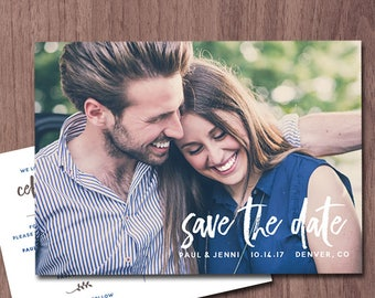 Wedding Save the Date Photo Card Photo POSTCARD Save the Date Invitation Announcement Modern Save the Date Card Save Our Date Save the Dates