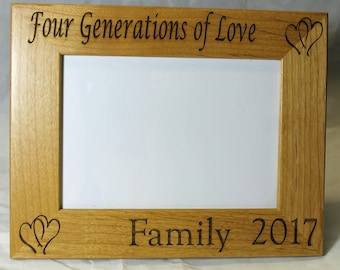 Personalized Picture Frame.   Family reunion.  Customized to order.