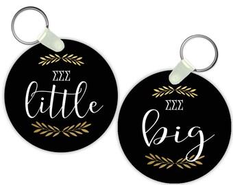 TriSigma Sigma Sigma Sigma Big Little Keychain Sorority Gift Sorority Keychain