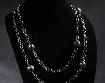 Must Have Silver  Necklace with Hammered Accents
