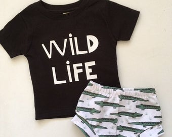 New for Summer!! WILD LIFE Collection/Alligators/Baby Shorties/Toddler Shorties ONLY