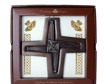 "Bronze St. Brigid's Cross Plaque 6"" [TF03]"