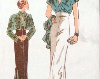 Butterick Retro 1930s evening gown with shrug, reissued pattern uncut and factory folded Out of Print