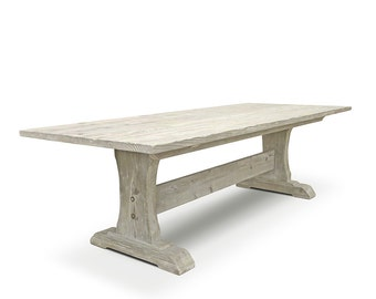 Dining Table, Table, Reclaimed Wood, Wood Table, Trestle Table, Handmade, Rustic