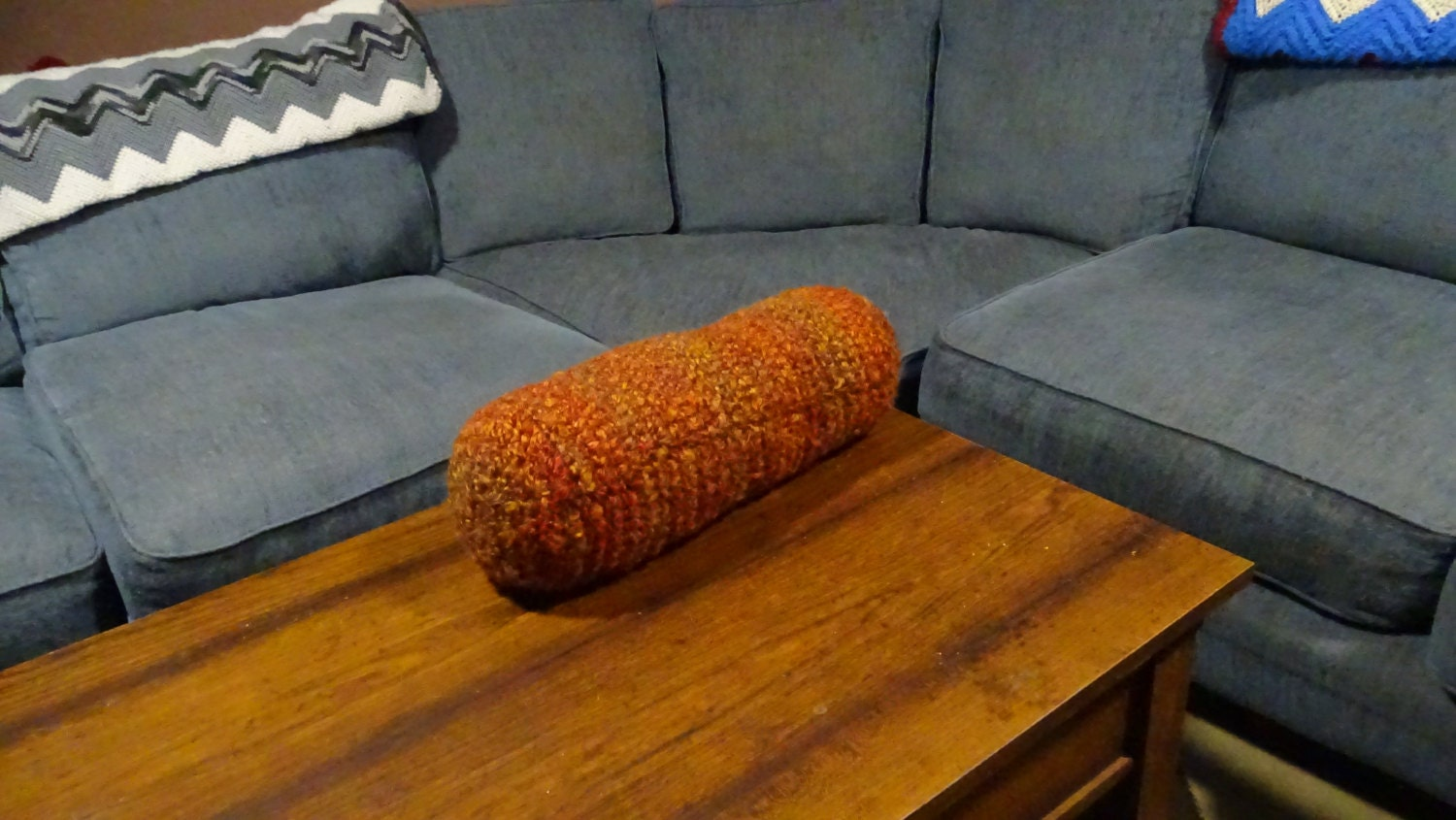 17 Orange Coffee Table Foot Rest Foot Pillow Bolster