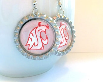 Washington State University COUGARS Handmade Earrings