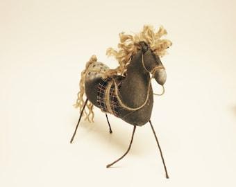 Primitive Horse, Black Appaloosa Horses, Folk Art Horses