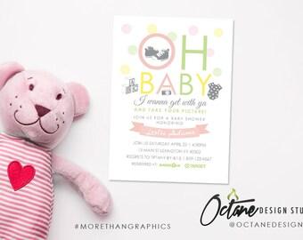 Oh Baby - Baby Shower Invitation