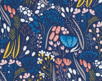 Cloud 9 Fabrics - Whitehaven Collection - Metcombe in Navy Organic