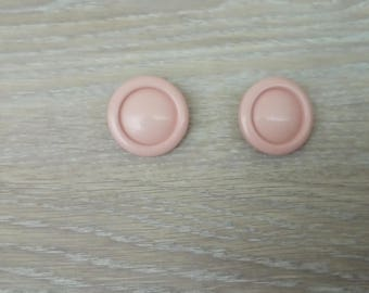 Set of 2 round buttons acrylic sewing
