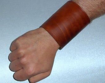 Cuff Manchettenarmband Börsenmanchetten sleeve Stulpe's wide bracelet cuff with and without stock Brown