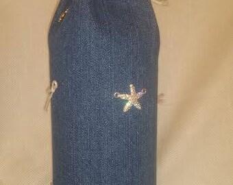 Wine Bottle Bag Signature gift bag Ocean Blue