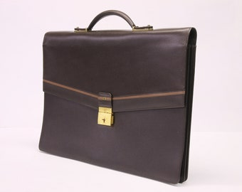 Genuine leather briefcase - made in Italy