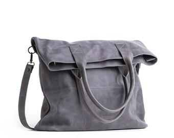 Foldover crossbody bag - foldover tote - large foldover purse - bag with long handle - long tote - large tote bag - crossbody messenger bag