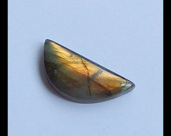 New, Gemstone Flashy Stone Labradorite Cabochon,31x14x6mm,4.4g(a0106)  (can drill the hole,if needs,contact me)