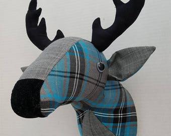 Faux taxidermy deer head-reindeer-stag head-animal head-wall hanging