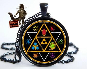Zelda necklace, Zelda jewelry, Zelda pendant, zelda accessory, Legend of Zelda, Zelda, mirror navi, goddess pearls, Mirror of Twilight
