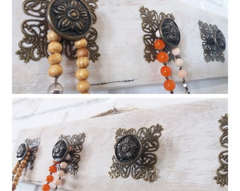 Necklace organizer, Necklace Display, Wall Hanging Necklace Display, Jewelry storage, Jewelry holder, Holder Scarve, Knobs, gift for her