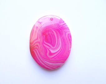 dyed agate ARFL-216 Oval Pendant