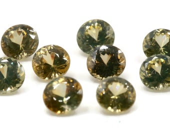 Natural Canary Zircon Gemstone Faceted Canary Zircon Loose Stone December Birthstone Genuine Canary Zircon Stone Round 1 pc 0.51ct 4.5mm
