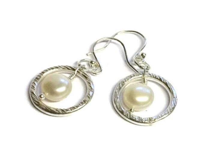 AAA Grade Freshwater Pear Ringl Drop Earrings