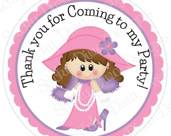 PERSONALIZED STICKERS - Custom Adorable Dress Me Up Personalized Labels -  Gloss Labels