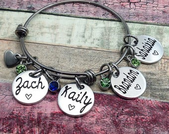 Personalized Name Bracelet, Mother Bracelet, Mother's Day, Grandma Bracelet, Grandma Jewelry, Mom Jewelry, Gift for Grandma, Gift for Mother
