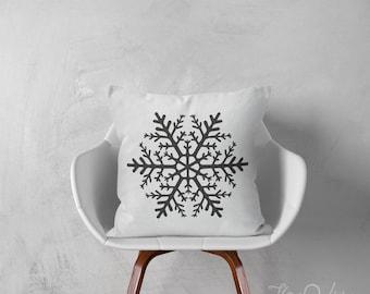 Snowflake pillows decorative throw pillows winter pillows snowflake throw pillows pillows holiday pillows 18x26 inches pillows